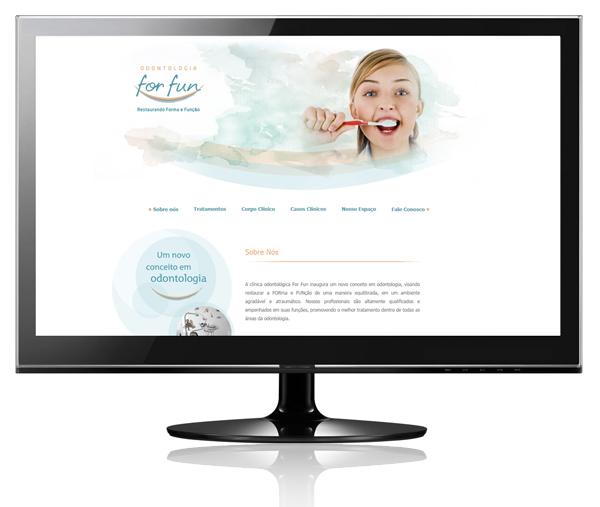 Criação de sites, site dentista,
